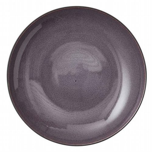 Stoneware - Giant Serving Dish 40 cm - Lilac / Black